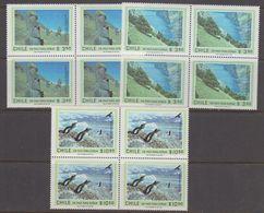 Chile 1981 Easter Island / Antarctica 3v Bl Of 4 ** Mnh (40978C) - Chili
