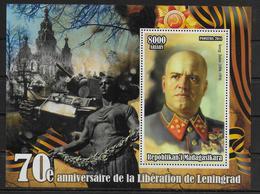 MADAGASCAR  BF ( 2014 ) * * Guerre Liberation De Leningrad Zhukow - 2. Weltkrieg