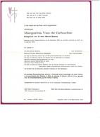 Margareta VAN DE GEHUCHTE 1919 1978 Ee/v Marcel BOENNE Sint-Denijs-Westrem  Melle - Obituary Notices