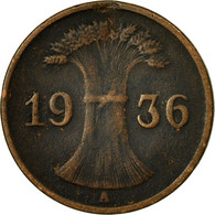 Monnaie, Allemagne, République De Weimar, Reichspfennig, 1936, Berlin, TB+ - 1 Rentenpfennig & 1 Reichspfennig