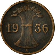Monnaie, Allemagne, République De Weimar, Reichspfennig, 1936, Berlin, TB+ - [ 3] 1918-1933 : República De Weimar