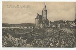 Allemagne Germany Hesse - Hocheim A Mim Jahre 1835 Nach Einem Stahlstich Von L.rohbock - Hochheim A. Main