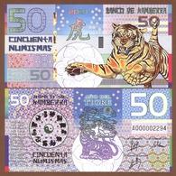 KAMBERRA 50 Numismas 2010 Polymer UNC. Year Of The Tiger - Billets