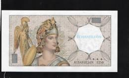 BILLET ECHANTILLON FILIGRANE ATHENA N°1250 Banque De France - Andere