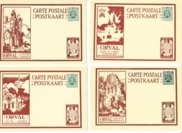 Belgique - Cartes Illustrées N° 5 Orval Avec Ange Dans Le Coin Inférieur Droit Série De 12 Cartes - Illustrierte Karten