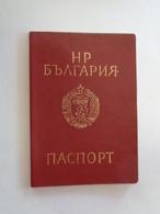 Bulgaria,Passport,Reisepass 1989 - Historical Documents