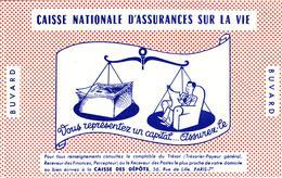 Buvard : Caisse Nationale D'assurances Sur La Vie - NEUF - - Bank & Insurance