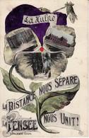 """La Hulpe """" La Distance Nous Sépare- La Pensée Nous Unit ! Color Carte Marcovici - Topcard Edit. Ratel Soeurs - """" I """" - La Hulpe"""