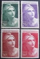 R1680/124 - 1945 - TYPE MARIANNE DE GANDON - N°730 à 733 NEUFS* - France