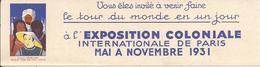 """EXPOSITION COLONIALE INTERNATIONALE De PARIS - 1931 - Pub """"Marque-page"""" - Moyens De Transport Pour S'y Rendre - A Voir ! - Publicidad"""