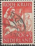 NETHERLANDS 1953 Red Cross Fund - 10c.+5c Nurse Giving Blood Transfusion FU - Oblitérés