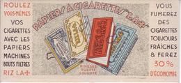 """Buvard : Papiers à Cigarettes """"LA+"""" - NEUF - - Tobacco"""