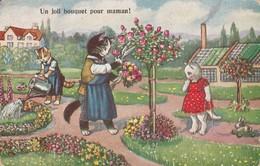 Chats : Chats Humanisés : Un Joli Bouquet Pour Maman ! ( Illustr. à Définir ) - Cats