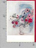 CARTOLINA VG GERMANIA - RAOUL DUFY - Vase With Anemones - New York Albert Lasker Collection - 10 X 15 - ANN. 1969 - Pittura & Quadri