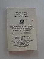 Bulgaria,  Annexe Au Passeport 1982 - Historical Documents