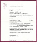 Marcel BOENNE 1916 1979 Wn/v Margareta VAN DE GEHUCHTE Waterland-Oudeman  Melle - Obituary Notices
