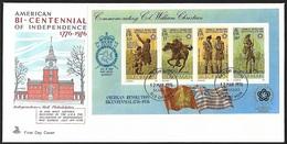1976 - ISLE OF MAN - FDC - SG MS79 [USA] + DOUGLAS - Isola Di Man