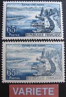 R1718/27 - 1957 - EVIAN LES BAINS - N°1131c NEUF** - VARIETE ➤ Impression Très Dépouillée - Errors & Oddities