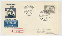 GREENLAND 1958 Ship Definitive 5 Kr.   On FDC.  Michel 41 Cat. €100 - FDC