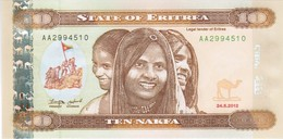Eritrea - Pick 11 - 10 Nakfa 2012 - Unc - Eritrea
