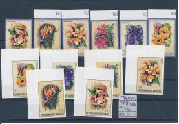 BURUNDI FLOWERS COB 944/49 + AIR 553/58 IMPERFORATED MNH - 1980-89: Neufs