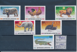 BURUNDI ANIMALS COB 972/77 IMPERFORATED MNH - 1980-89: Neufs