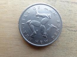 Ile De Man  10 New Pence  1975  Km 23 - Regionale Währungen