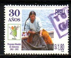 PEROU. N°1043 Oblitéré De 1995. Programme Mondial D'Alimentation. - Contro La Fame