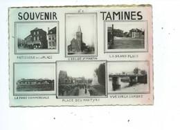 Tamines Souvenir Multivues ( Etat Voir Scans TRES Légers Trous De Punaises ) - Sambreville