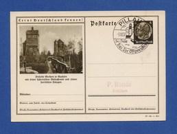 DR Ganzsache P 236 37-93-1-B9 Stolpen SoSt PILLAU, Das Tor Ostpreußen 5.10.37 - Deutschland
