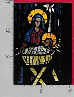 CARTOLINA NV GERMANIA - Kirchenfenster (Geburt Christi) Von Sepp Vees In Der St. Bernadette Kirche - 10 X 15 - Belle-Arti