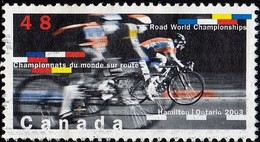 CANADA - Scott #1998 Road Wprld Championships, Hamilton Ont. / Used Stamp - Cycling