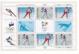 Slovenia 1998 Nagano Olympic Games Souvenir Sheet  MNH/** (M11) - Winter 1998: Nagano