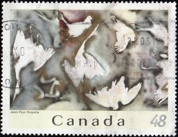 CANADA - Scott #2002e Hommage à Rosa Luxembourg By Hean-Paul Riopel / Used Stamp - Art