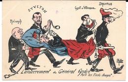 SATIRIQUE Par E. MULLER - L'Enterrement Du Général André Parti Les Pieds Devant - Dreyfus, Syveton, Reinach, Guyot De Vi - Satiriques