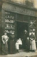 Cpa Carte Photo Café, Commerce De Vins Et Liqueurs - SEGUR - Cafés