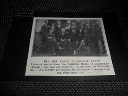 Origineel Knipsel ( 1584 ) Uit Tijdschrift  : Assebrouck  Assebroek ( Brugge )    1929 - Vieux Papiers