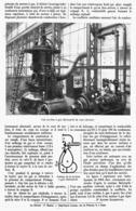 LA TURBINE à GAZ  HOLZWARTH 1912 - Other