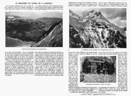 LE PERCEMENT DU TUNNEL De La JUNGFRAU  1912 - Railway