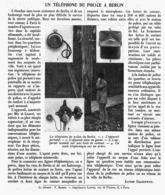 UN TELEPHONE DE POLICE à BERLIN  1912 - Other