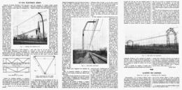 UN RAIL ELECTRIQUE AERIEN  1912 - Chemin De Fer