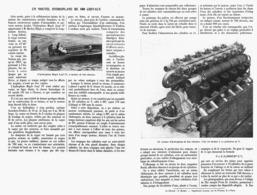 UN NOUVEL HYDROPLANE De 800 CHEVAUX ( MAPLE LEAF IV )  1913 - Boats