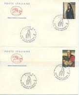 ITALIA - FDC  CAVALLINO 1994 -  NATALE - ARTE -  MELOZZO DA FORLI - LATTANZIO DA RIMINI - ANNULLI SPECIALI - 6. 1946-.. Repubblica