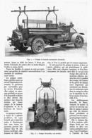 """POMPE à INCENDIE AUTOMOBILE MULTICYLINDRIQUE """" DROUVILLE """" 1913 - Transportation"""