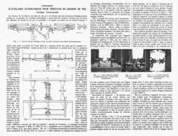 """ATTELAGES AUTOMATIQUES POUR VEHICULE DE CHEMIN DE FER  Attelage """" PAVIA -CASALIS """"  1913 - Railway"""