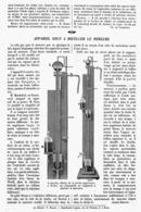 """LA MACHINE """" GOUY """" A DISTILLER LE MERCURE  1913 - Other"""