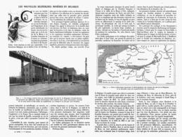 """LES NOUVELLES RECHERCHES MINIERES En BELGIQUE  """" GRAND-HORNU """"  1913 - Cultural"""