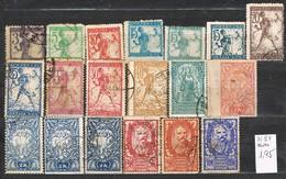 Sellos Yugoslavia, Reino Servios Croatas Slovenos 1919, Yvert  Varios 71-84 º - Used Stamps
