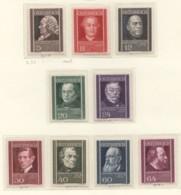 1937  Wohlfahrt  Ärzte  MiNr 649-657 * - 1918-1945 1st Republic