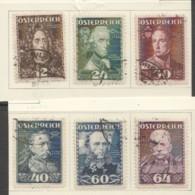 1935 Wohlfahrt  Heerführer  MiNr 617-622 - 1918-1945 1st Republic